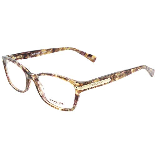 Coach Eyeglasses HC6065 6065 5287 Confetti Light Brown/Gold Optical Frame 49mm (Randlose Eye Glass Frames)