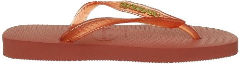 Havaianas Unisex-Adult Logo Metallic Flip Flops Salmon 5 UK (39/40 EU)