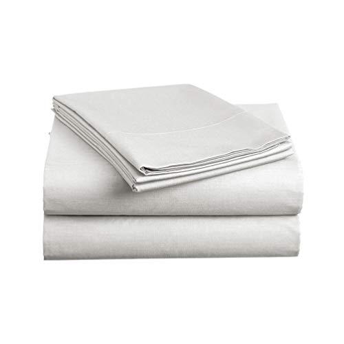 (Luxe Bedding Sets - Microfiber Twin Sheet Set 3 Piece Bed Sheets, Deep Pocket Fitted Sheet, Flat Sheet, Pillow Case Twin Size - Silver Light Gray)
