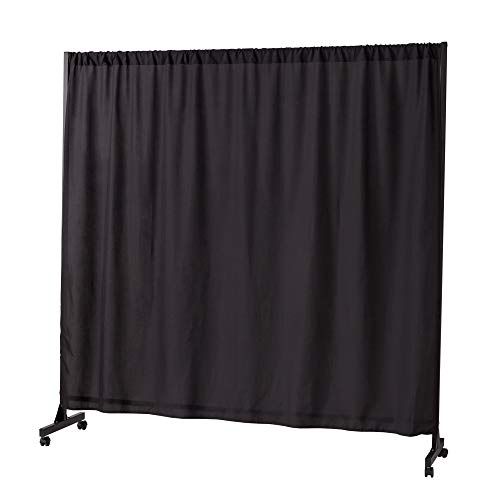 Don't Look at Me - Expandable Privacy Room Divider - Black Frame with Black Fabric
