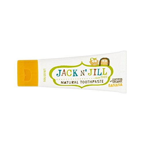 Jack N' Jill Banana Toothpaste Natural with Organic Flavouring 50g - Pack of 2