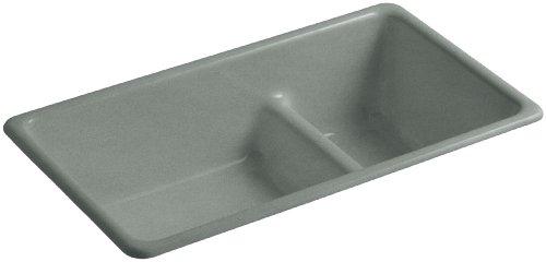 (KOHLER K-6625-FT Iron/Tones Smart Divide Self-Rimming or Undercounter Kitchen Sink,)