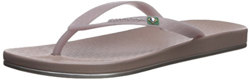 Ipanema Women's Brilliant Flip-Flop, Beige, 9 M US