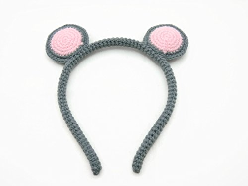 Hair Jewelry Accessories Girl Headband Crochet Animal Ears Mouse
