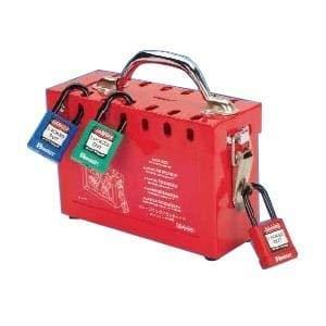 PPE Saftey Equipment / Lockout Tagout Sliding lid group lock box Pack of 1 (644-PSL-GLBN)