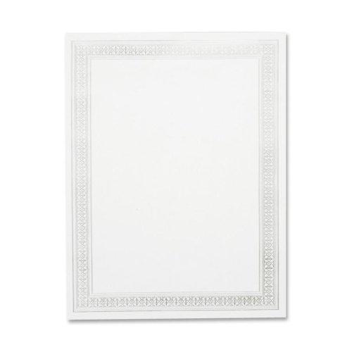 Wholesale CASE of 25 - Geographics Silver Flourish Foil Certificate-Parchment Certificates, 11''x8-1/2'', 12/PK, Silver Flourish
