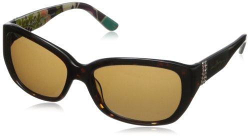 Vera Bradley Women's Elaine VB-ELAI-0PMC-S56S16 Oval Sunglasses,Plum Crazy,56 - Vb Sunglasses