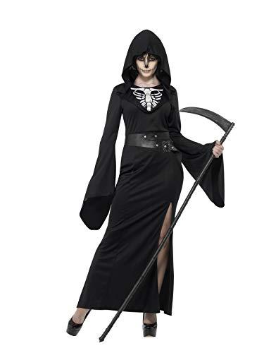 Smiffy's Women's Lady Reaper Costume, Dress, Belt and Cape, Legends of Evil, Halloween, Plus Size 22-24, 45203 ()