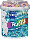 Pillsbury, Happy Birthday Funfetti Aqua Blue Vanilla Frosting with Candy Bits, 15.6oz Tub (Pack of 3)