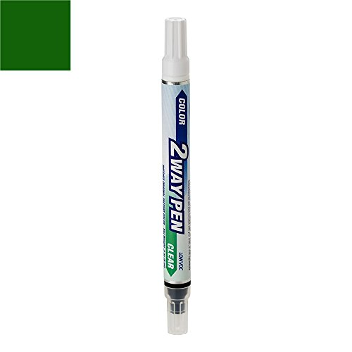 ExpressPaint 2WayPen Ford F-Series, F150, F250, F350 Automotive Touch-up Paint - Dark Highland Green Waterborne Pri Metallic Clear PY/M6921 - Color + Clearcoat Only