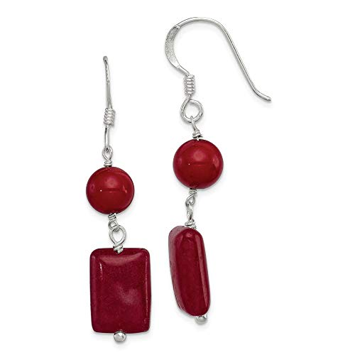 925 Sterling Silver Red Coral/red Agate Drop Dangle Chandelier Earrings Fine Jewelry Gifts For Women For Her