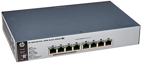 Switch HPE Aruba 1820-8G PoE+ 65W 8p Giga - J9982A, Hpe Aruba, Switches de Rede