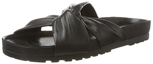 Vagabond Erie Black Slippers - Ciabatte Nere In Pelle - Erie Stores In