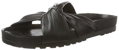 Vagabond Erie Black Slippers - Ciabatte Nere In Pelle - In Erie Stores