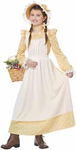 Prairie Girl Girls Costume Yellow