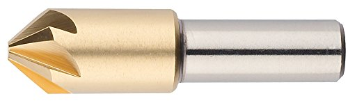 "UPC 686125256975, Morse Cutting Tools 25697 Chatterless Countersink, M42 8% Cobalt, Titanium Nitride Coated, 6 Flutes, 90 degree Point, 5/8"" Size"