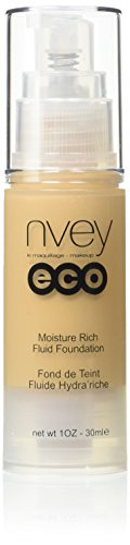 Nvey Eco Moisture Rich Fluid Foundation 516 – Warm Honey – Natural 1 Ounce