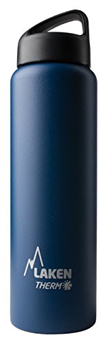 Laken Classic Botella Termica Acero Inoxidable 18/8 y Doble Pared de Vacio, Unisex adulto, Azul, 1000 ml