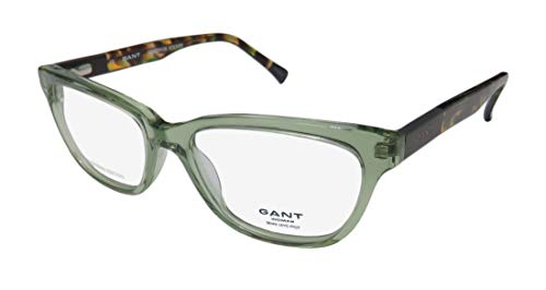 Gant 4005 Womens/Ladies Cat Eye Full-rim Flexible Hinges Eyeglasses/Eyewear (51-16-140, Transparent Green / ()