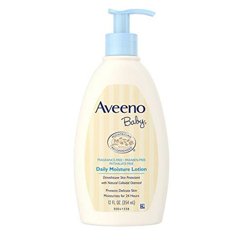 Aveeno Baby Daily Moisture Lotion, Fragrance Free, 12 Ounce