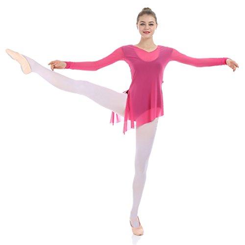 iMucci Kid Girl Cotton Canvas Obermaterial und echtes Leder Sole Ballett Tanzschuhe Rosa