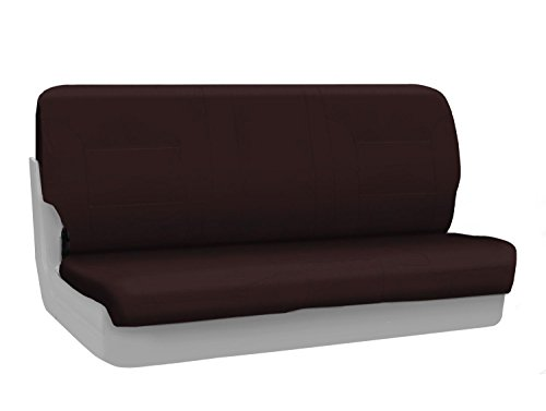 (Coverking Custom Fit Front Bench Seat Cover for Select Chevrolet Models - Polycotton Drill (Wine))