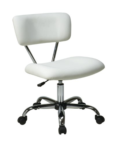 Avenue Six ST181-V11 AVE SIX Vista Task Office Chair, White Vinyl