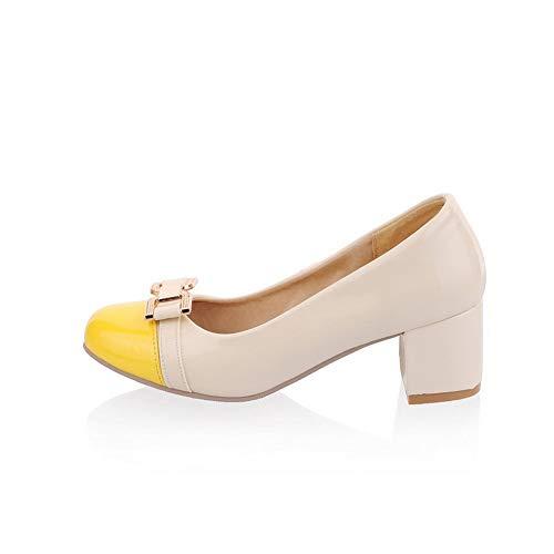 Sandales SDC05576 Compensées AdeeSu Jaune Femme f6YnxU