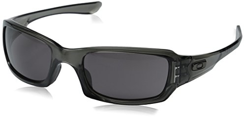 Oakley Men's Fives Squared OO9238-05 Rectangular Sunglasses, Grey Smoke, 54 mm (Sunglasses Rectangle)