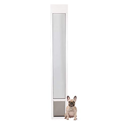 PetSafe Freedom Aluminum Patio Panel Sliding Glass Dog and Cat Door, Adjustable 91 7/16