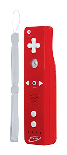 Tomee Super Plus Wireless Remote for Wii U/Wii, Red