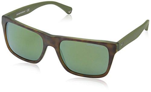 Emporio Armani EA4048 53946R Matte Tortoise EA4048 Rectangle Sunglasses Lens - Tortise Glasses