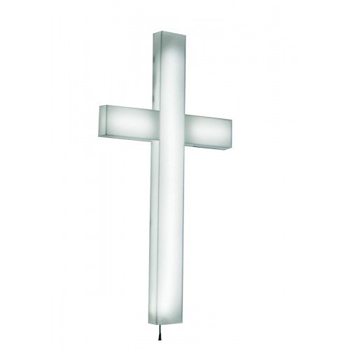 Fixture Displays Cross, Christian LIGHTED Church Sign white Plexiglass LED Light 11673 11673 by FixtureDisplays