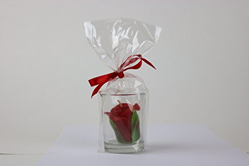 10 Hour Rose Garden Scented Votive Candles With Clear Glass Holders by Zolin Art -