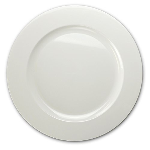 (OCCASIONS 40 PACK, Extra Heavyweight Disposable Wedding Party Plastic Plates/Chargers/Serving Tray (12'' Plate, Plain White))