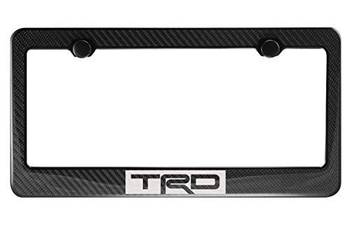 TRD Carbon Fiber License Plate Frame with Cap