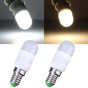 E14 1.8W Warm White/White 11 SMD 3014 220V LED Light Bulb # Color--White