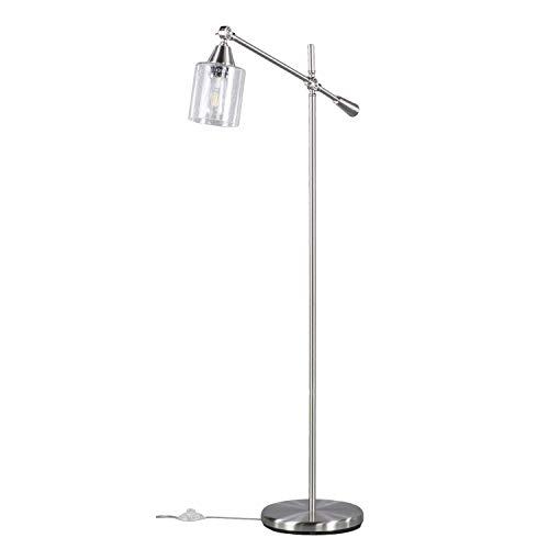Southern Enterprises AMZ1315TL Tiernan Floor lamp, Brushed Nickel