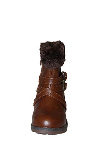 jili-bottes bottines fourrées-marron-fille