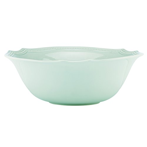Lenox French Perle Bead Serving Bowl, Ice - Bowl Bead Round