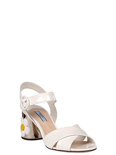 Cuero Zapatos Blanco 1x380h069f0009 Mujer Prada wqHvUBH
