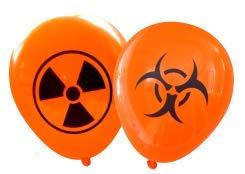 Nerdy Words Radioactive and Biohazard Latex Balloons (16 pcs) (Orange) -