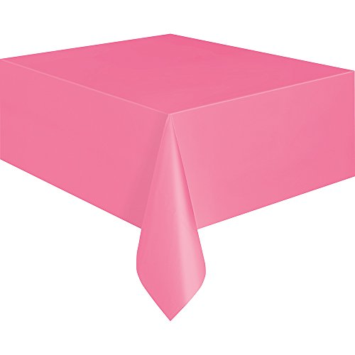 [Hot Pink Plastic Tablecloth, 108