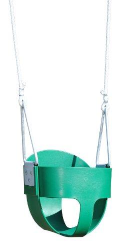 Creative Playthings Bucket Toddler Swing (Rope) Green