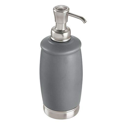 Gray Lotion - InterDesign York Liquid Soap Pump, Matte Gray/Brushed Nickel