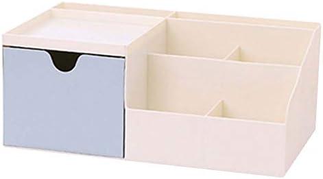 Büro Kunststoff Desktop Aufbewahrungsbox Schubladen Organizer, Blau 04