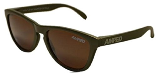 AMPED Staple Series Sunglasses (Army Green (Brown - Sunglasses Amped