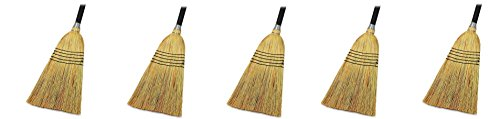 Genuine Joe GJO58563 Natural Fiber Janitor Lobby Blend Manual Broom, 56'' Handle Length, 11'' Bristles (5) by Genuine Joe