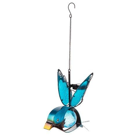 Darice Solar Glass Bird: Metal, 8.5 x 14 inches