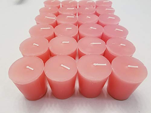 Old Candle Barn 24-Piece Votive Candles - Oriental Rose Scented 15 Hour - Perfect Pink Votives - Hand Poured Made in USA